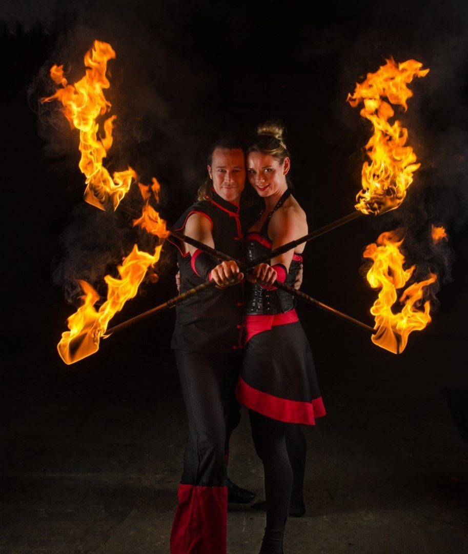 Fire Performing Duet Act