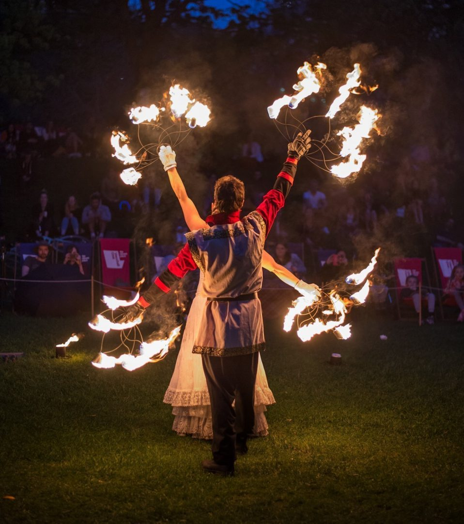 Choreographed Fire Circus Act