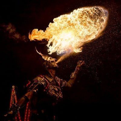 Medieval Themed Fire Show